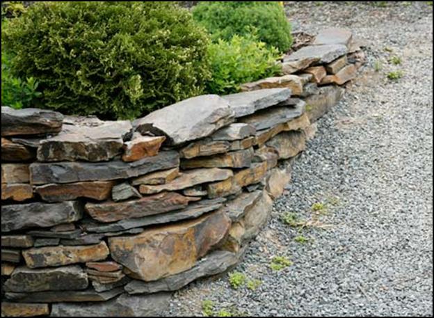 Podpornaja stenka iz kamnja
