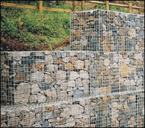 Podpornye stenki iz gabionov