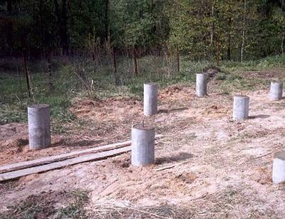 fundament na asbestocementnye truby