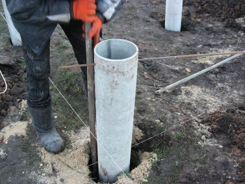 Фундамент из асбестоцементной трубы